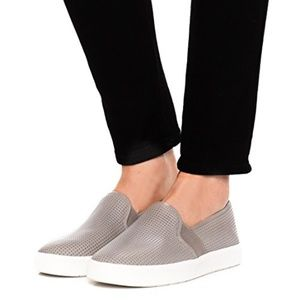 Vince Blair Perforated Slip On Leather Sneaker